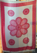 SEQUINNED Flower Sarong - Beach/Pool/Cover Up/Cool - Pink/White - So Stylish
