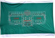 Casino Style Craps Layout - 8ft Generic Synthetic Polyester Felt FREE SHIPPING*