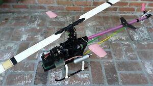 RC Helicopter Hirobo Shuttle ZX with metal upgrades JR 3000 Gyro Futaba Servos