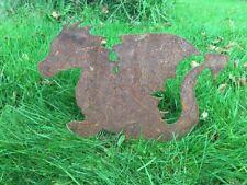 More details for rusty dragon metal silhouette garden art