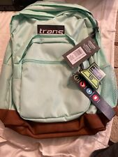 JanSport Trans Super Cool Backpack Brook Green 193391266633 Preowned Unused