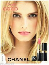 PUBLICITE ADVERTISING 105 2012  CHANEL maquillage rouge lèvres ROUGE COCO