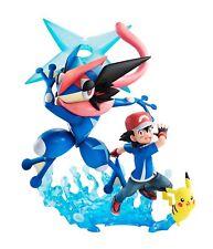 G. E.M.Séries Pokemon Ash Ketchum, Pikachu & Ash's Greninja Figurine Megahouse