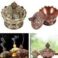 Buddha Incense Burner Lotus Flower Classic Tibetan Alloy Sandalwood Censer