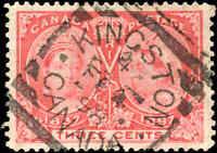 1897 Used Canada 3c VF Scott #53 Diamond Jubilee Stamp