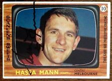 1967 SCANLENS VFL CARD PERSONALLY SIGNED BY HASSA MANN MELBOURNE