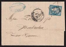 """1871 FRANCIA - 20C. III° TIPO """"BORDEAUX"""" LETTERA"""