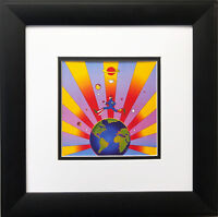 "Peter Max ""US EPA Poster '96""  NEWLY CUSTOM FRAMED Pop Art Earth Environment"