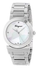 "Salvatore Ferragamo Women's FG2040013 ""Grande Maison"" Steel DIAMONDS Watch"