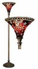Tiffany-style Vintage Star Torchiere