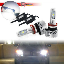2PCS White LED 9005 9006 H10 Headlight Bulbs Conversion Kit 6000K High Low Beam