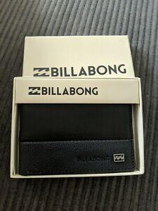 Mens Black Billabong Leather wallet