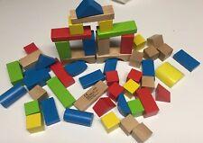 Hape Maple Wood Kid's Building Blocks Set, 50 Piece - Made In Switzerland