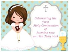 Girls Personalised First Holy Communion Edible Icing Cake Topper Decoration  A4