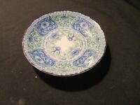 """Small Chinese  Canton Blue Green and White Porcelain Dish Size 4.1/2"""" Across"""