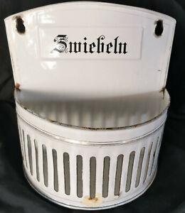Antiker Email Zwiebel Behälter Emaille Vintage shabby Jugendstil