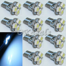 10X T5 12V 1W 80lm 3-1210 SMD LED 6000K White Light Car Signal Bulbs Sikenew-US