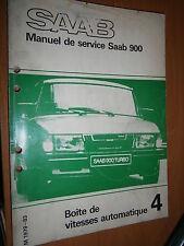 Saab 900 : manuel atelier partie 4 Boite vitesses automatique 1979 à 1983