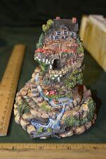 Franklin Mint Figurine Globe # Ed Signed Geranium Garden Cottage #491