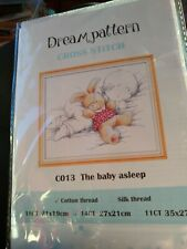 Dream Pattern 14ct CO23 'The Baby Asleep' Cross Stitch Kit