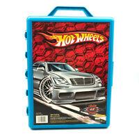 Hot Wheels Carry Case 2005 Holds 48 Cars Item 20020 Blue Retro Diecast Storage