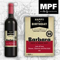 Personalised Birthday Wine Bottle Label - 18th, 21st, 30th, 40th, 50th - Ang age