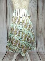 Ted Baker Pure Silk Vintage Baroque Print A Line Skirt Size 3 UK 12 W30
