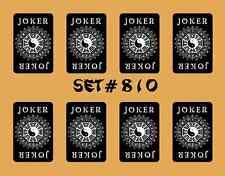 Mah Jongg Jong Mahjong Joker Stickers - Set #810 * Free Shipping *