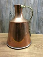 Large Copper Pitcher With Soldered Joints And Brass Handle J2