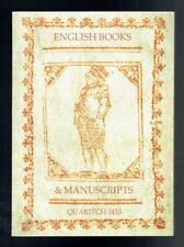 Bernard Quaritch; English Books & Manuscripts Quaritch 1433. 2015 VG