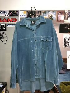 Vintage Quiksilver Cord Button Up Shirt