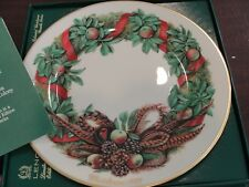 Lenox Colonial Christmas Wreath Plate 1987 Pennsylvania