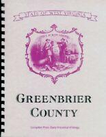 WV GREENBRIER COUNTY~LEWISBURG~WHITE SULPHUR SPRINGS~West Virginia HISTORY/BIOS