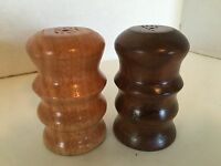 Vintage Wood Dark & Light Salt & Pepper Shaker Set