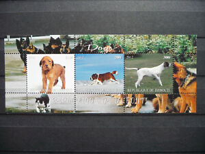 Hunde 17 dogs Chiens Bernhadiner Tiere animals pets Fauna Natur Block KB sheet