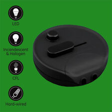 Universal Black In line Lamp Foot Dimmer Switch 4W-250W Incandescent LED CFL