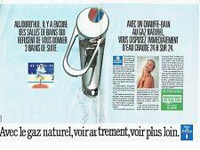Publicité Advertising   077  1989  Eau chaude Gaz de France ( 2 pages) sdb
