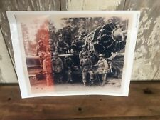 Vintage Wartime Photo, Flyboys Pilots With Plane WWII ? Black & White
