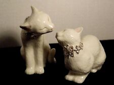 Lenox Sweet and Tender Cats 2 Piece Figurine Jeweled Collars