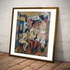 GERMAN ART ERNST KIRCHNER IN NUDE EXPRESSIONISM 20X20 INCHES