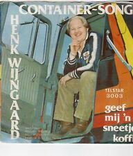 """HENK WIJNGAARD - CONTAINER SONG ( TELSTAR 3003) 7""""PS  1980"""