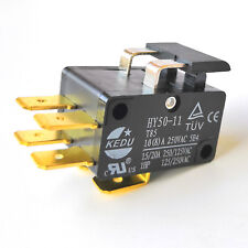 2Pc KEDU HY50-11 1HP 125V/20A 250V/15A 6Pins Electric Micro Switch Microswitches