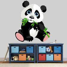 NEW XL 188 CUTE PANDA CARTOON ANIMAL STICKER ROOM BOY GIRLS VINYL WALL ART DECAL