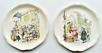 Antique Choisy Le Roi Dish French Talking Plate Set of 2 Dish 22cm diameter