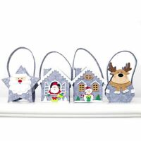 Christmas Gift Tote Bags Candy Tote Bag Presents Santa Claus Deer Snowman Gift