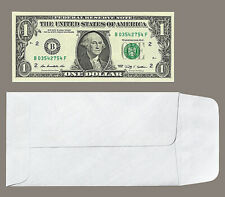 """#7 Coin Cash Currency Envelopes x 450 Count White Tyvek 18 Lb 3-1/2 X 6-1/2"""""""