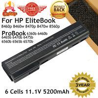 Battery For HP ProBook 6360b 6460b 6465b 6470b 6475b 6560b 6565b 6570b