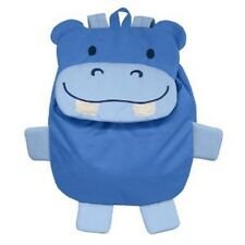 New Green Sprouts Child  Backpack BLUE HIPPO  Small School Toy gift BPA Free
