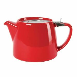 Forlife Stump Teapot Red 510ml Porcelain