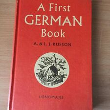 A Frist German Book -  A & LJ Russon - Vintage 1962 Hardcover 60s Learn German